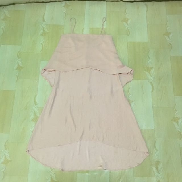 Blush Colored Hi-Low Dress