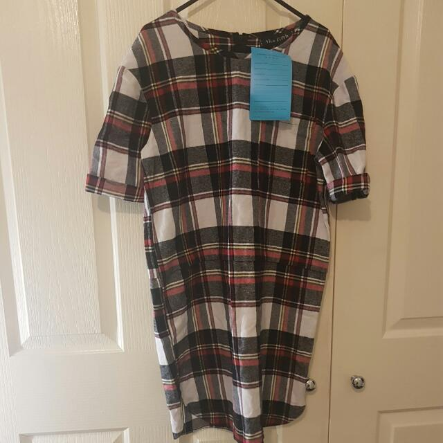 BNWT The Fifth Label Checkered Tshirt Dress Size S