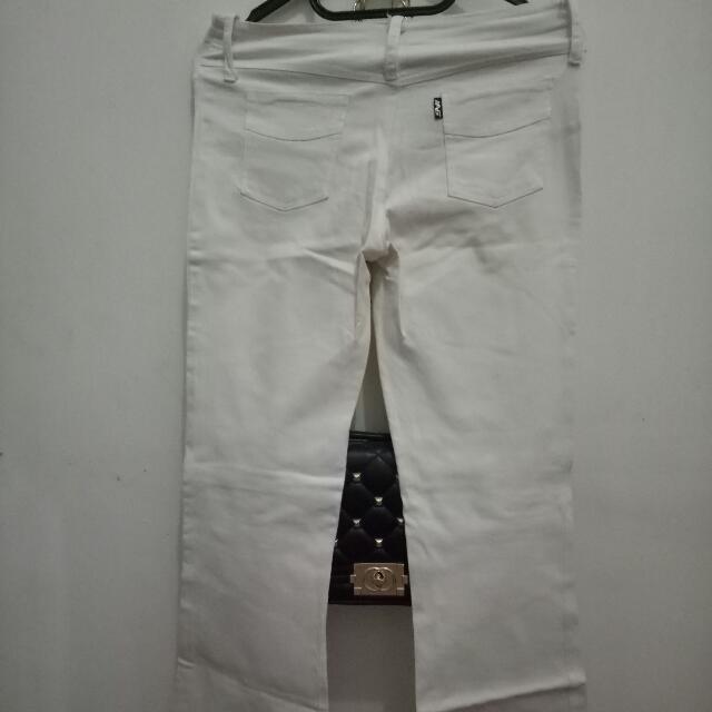 Celana Jeans White Streatch