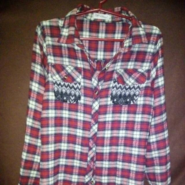 REPRICED!! Checkered Longsleeve