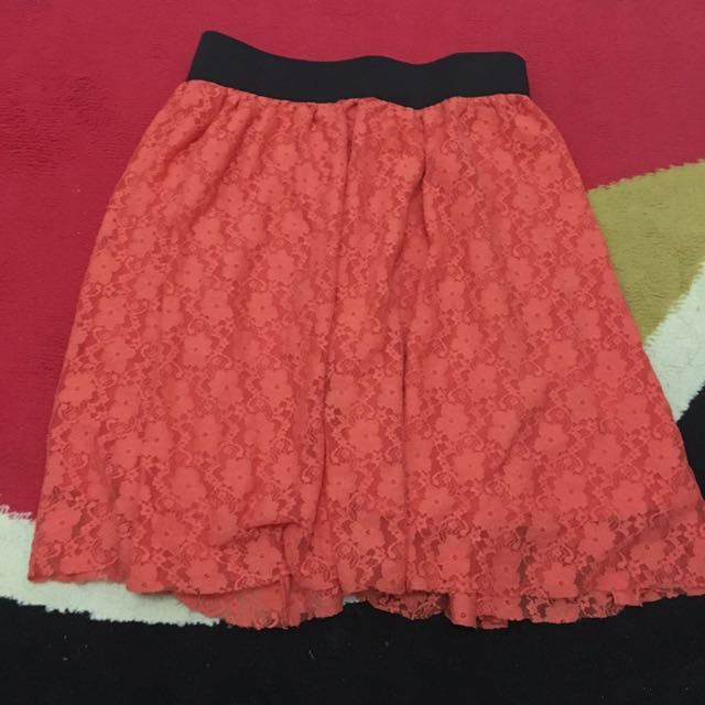 COLORBOX ORANGE BRUKAT SKIRT