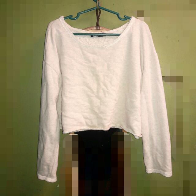 Crop Beige Sweater