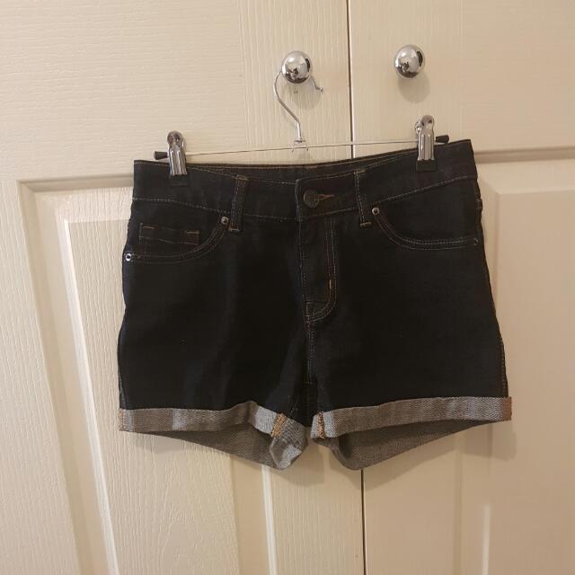 Dark Denim Shorts 25inch Waist