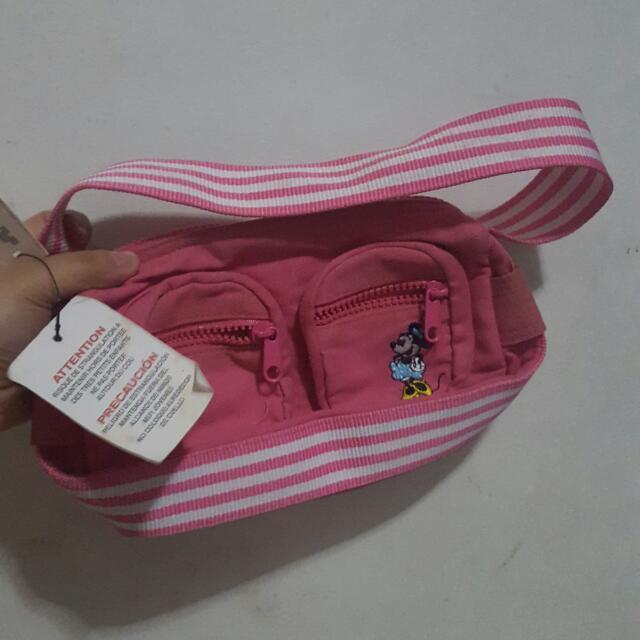 disneyland small pink minnie bag