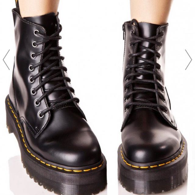 8ae17d2552 Dr Martens Jadon 8 Eye Boot, Women's Fashion, Shoes on Carousell