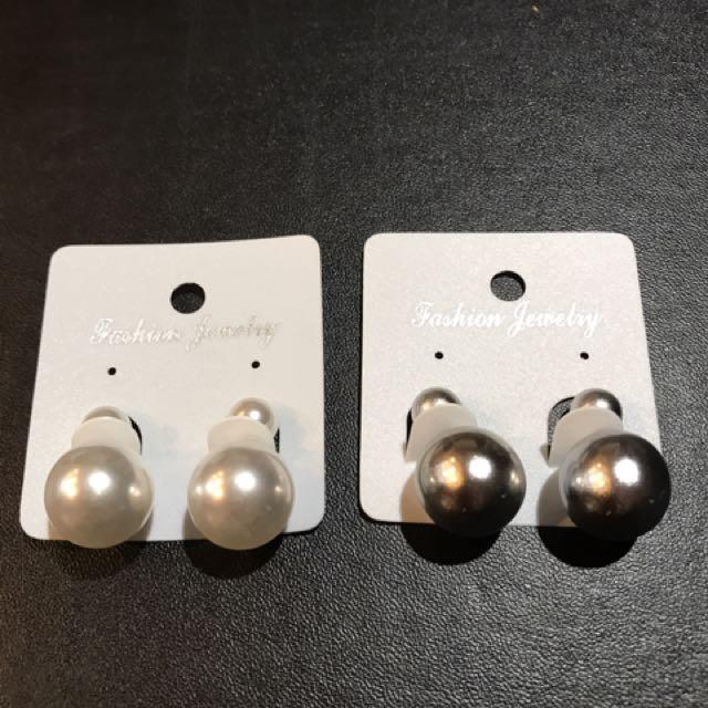 Elegant Faux Pearl Bubble Earrings