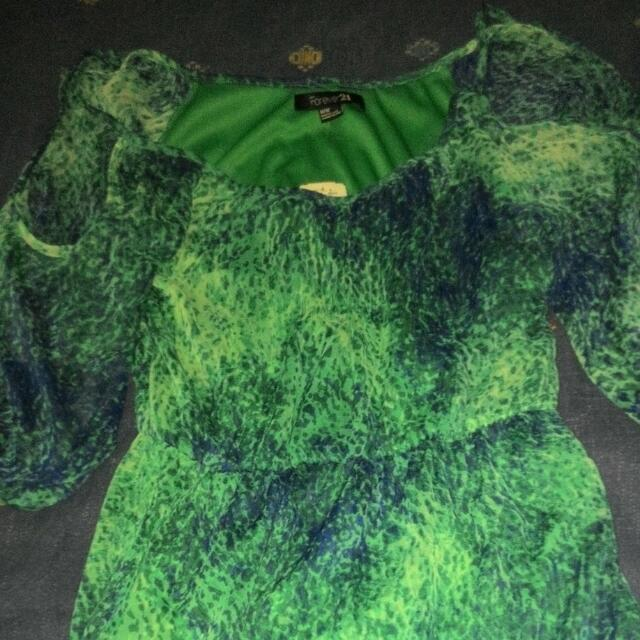 Forever 21 Green Dress  With Tag