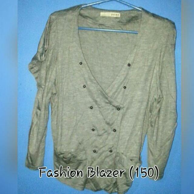 Gray fashion blazer
