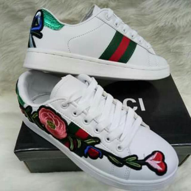 Gucci Embroidered Shoes