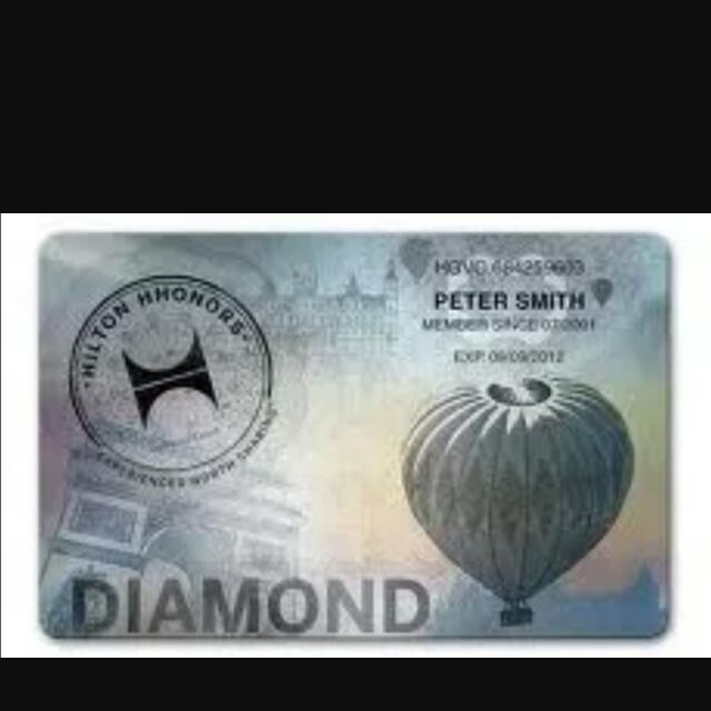 Hilton Hotel diamond membership