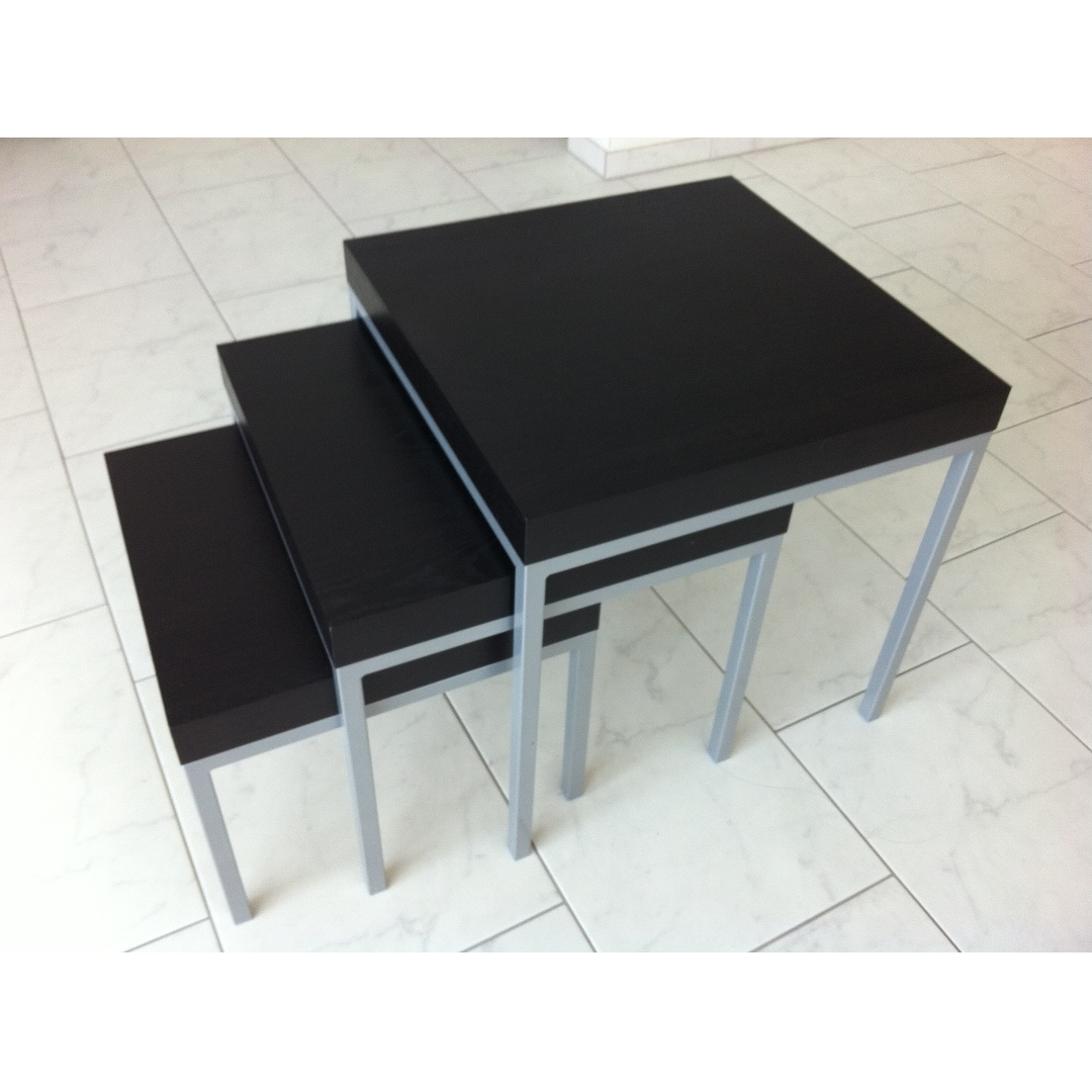 Ikea Klubbo Coffee Table Set Nested 3 Piece Furniture Home Decor
