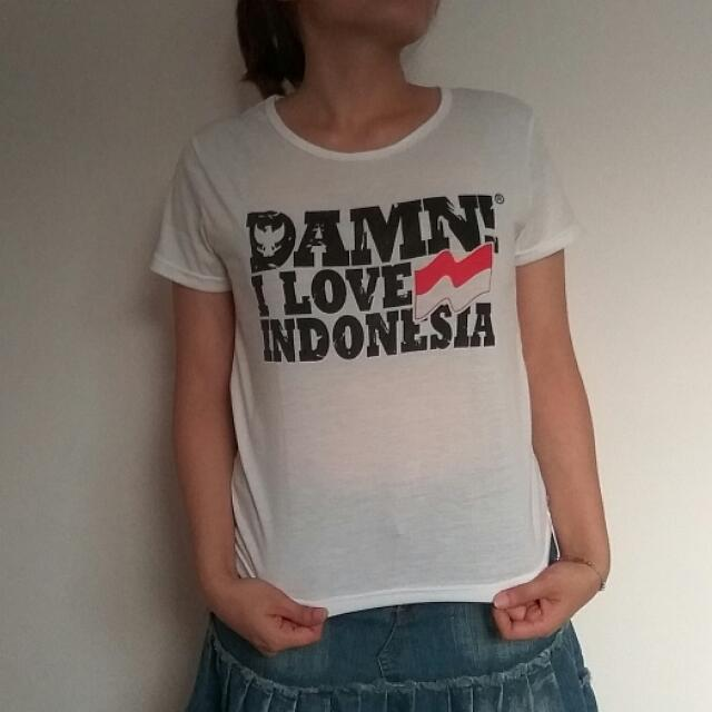 Kaos Damn! I Love Indonesia