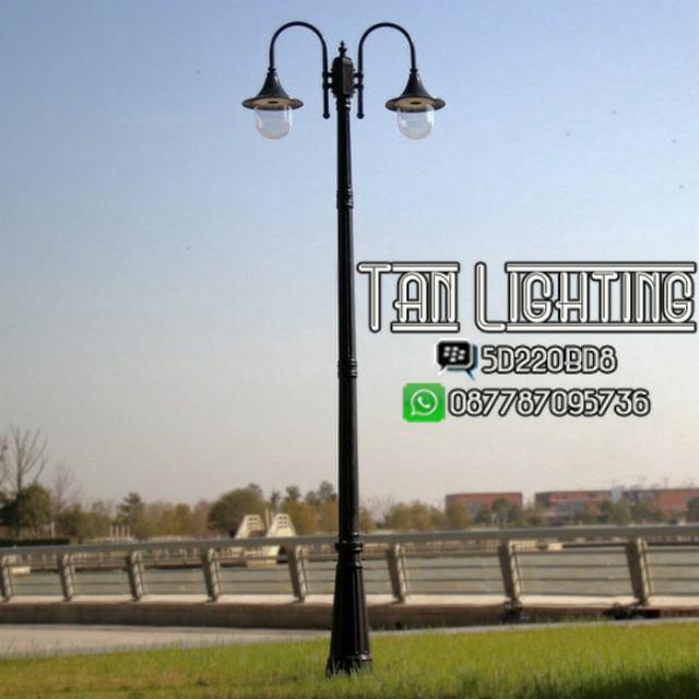 Lampu Taman Tiang Cabang 2 Seri 03 Perabotan Rumah Di Carousell