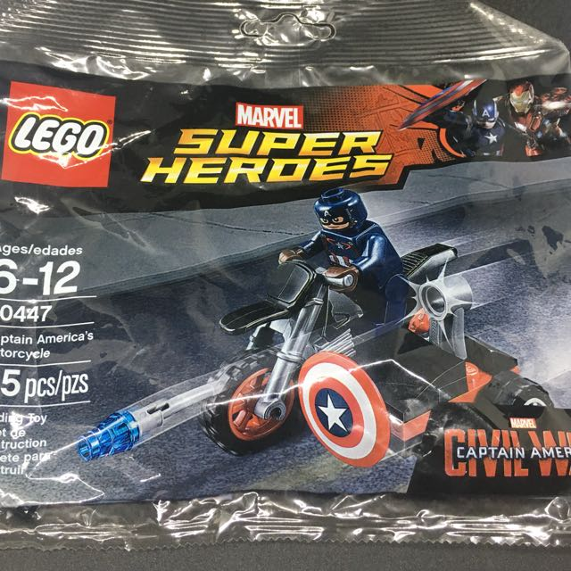 Lego Captain America's Motorcycle Polybag