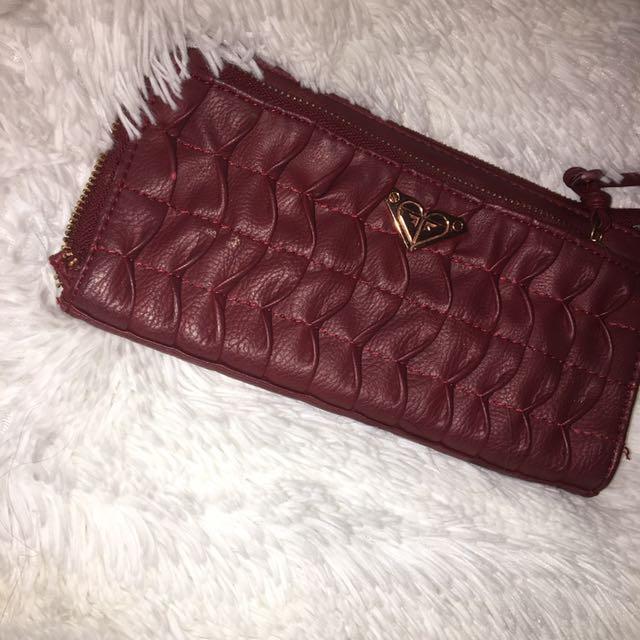 Marrone Red Wallet Roxie