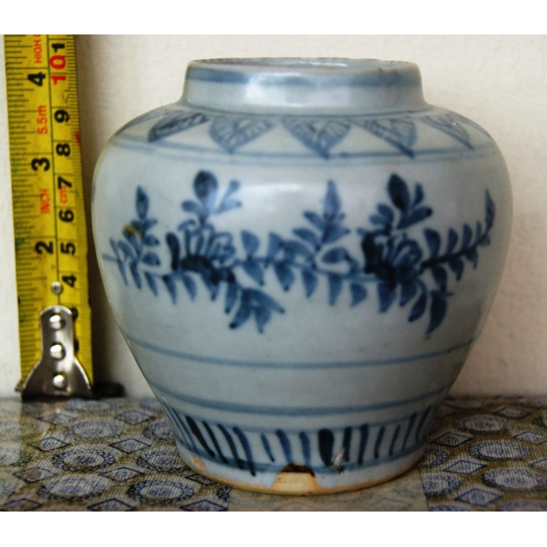 Ming Dynasty Blue And White Flowers Motif Small Cans