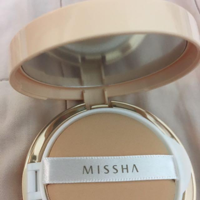 全新missha 絲絨完美氣墊粉餅(無暇款)