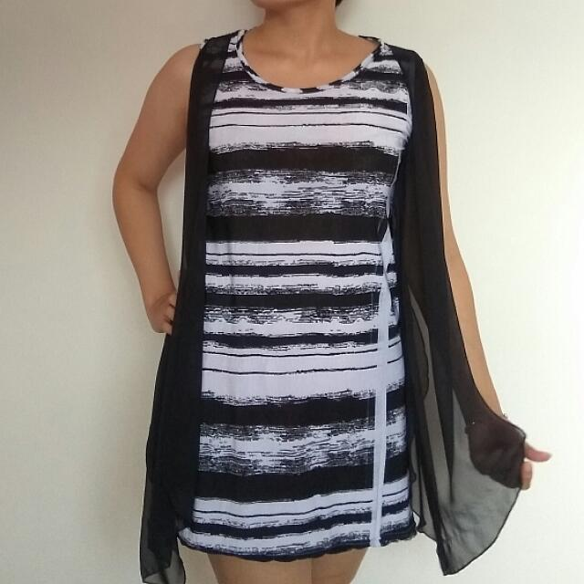 Monochrome Spandex Mini Dress