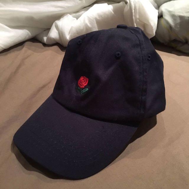 Navy Rose Cap