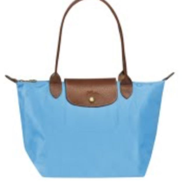 NEW! Longchamp Le pliage Small And Long Handle Authentic
