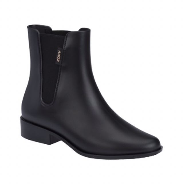 (NEW) ZAXY Rubber Boots Black