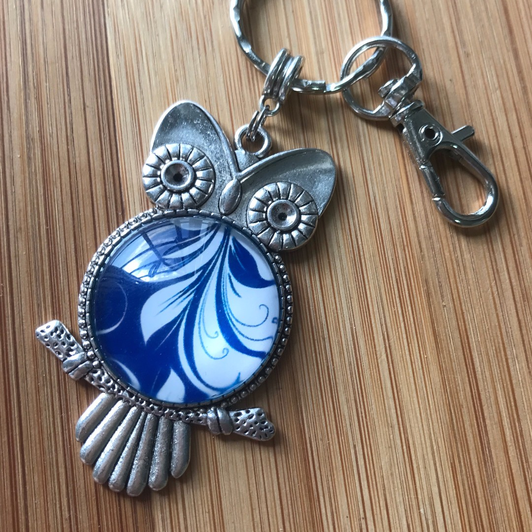Owl . Key Chain . Bag Charm . DIY Kit . Requires assembly . Teaching & craft supplies