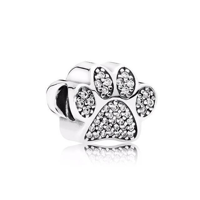 Pandora Dog Paw Silver Charm