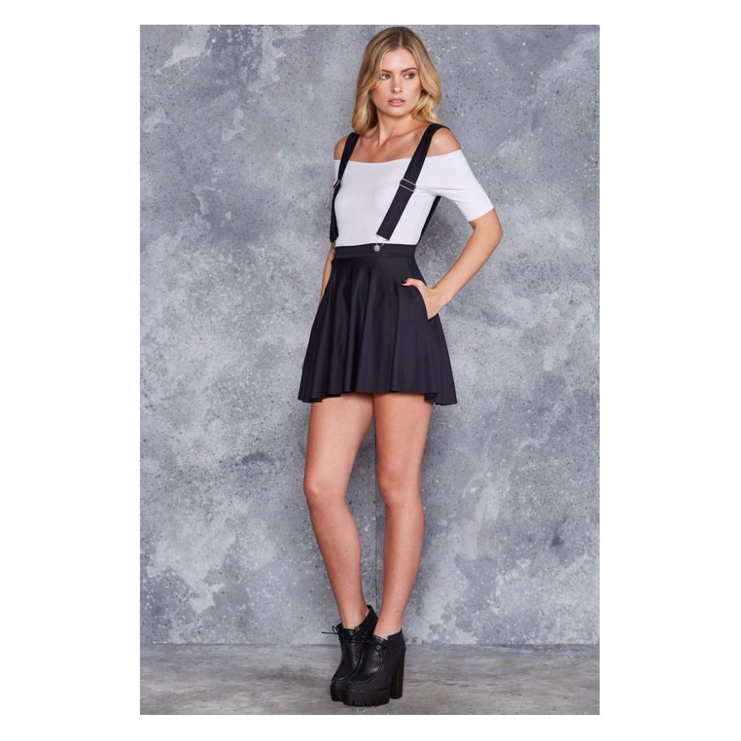 Pinafore Pocket Skater Skirt - Black Milk (S)