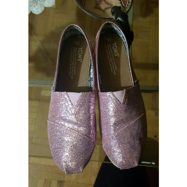Pink Sparkly TOMS