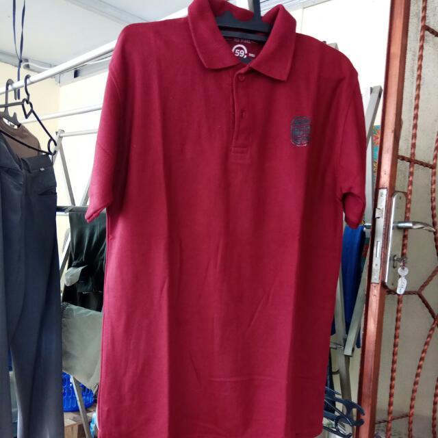Polo Shirt C 59 Merah Maroon