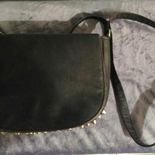 Repriced!! Preloved Studded Sling Bag