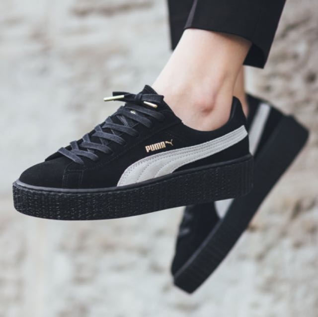 PUMA FENTY ALL BLACK CREEPERS 7814e9a22