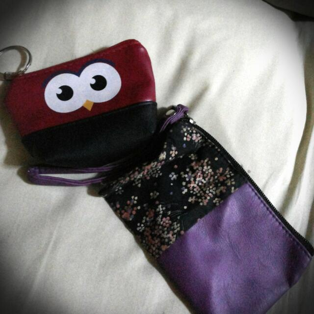 Purple Pouch And Coinpurse