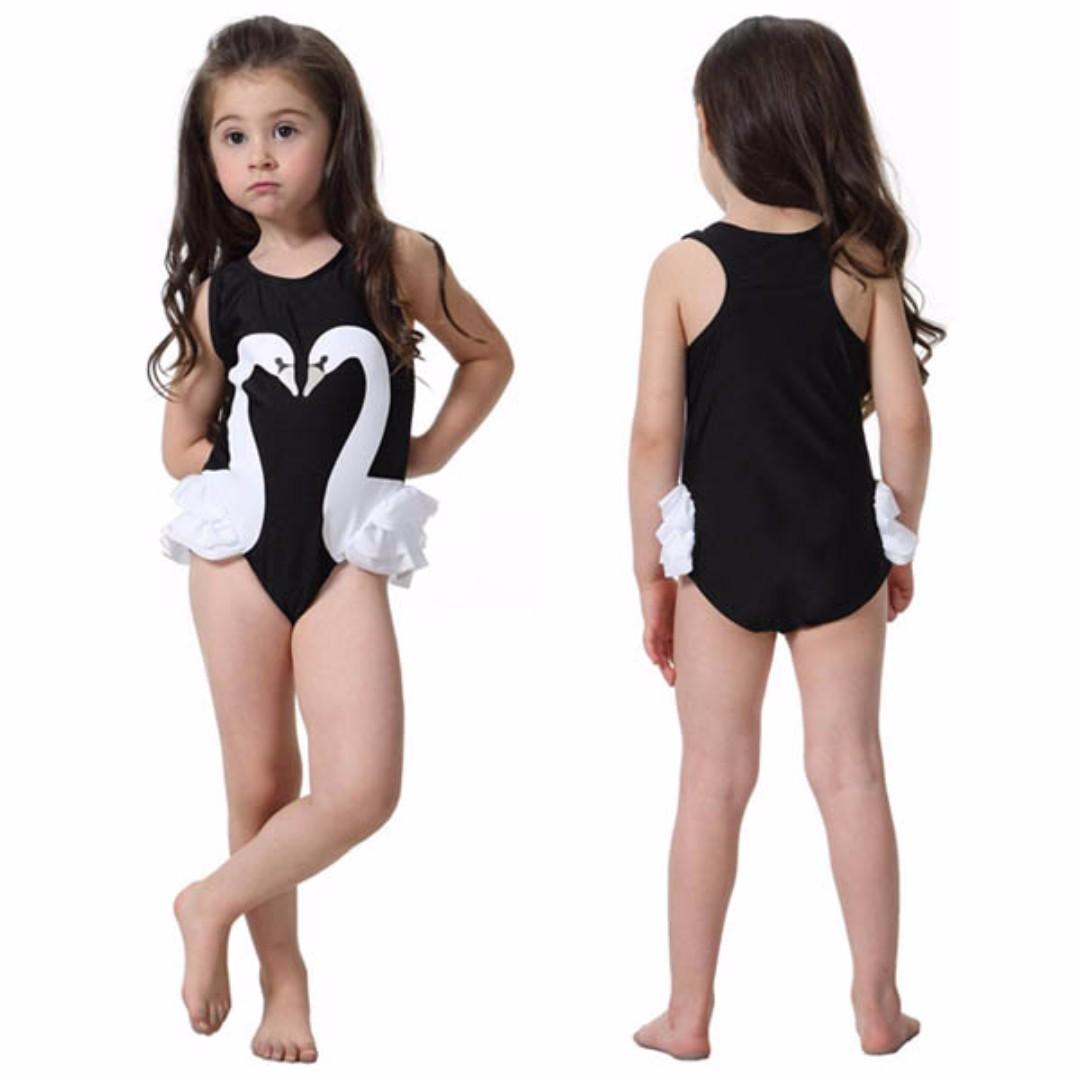147b9bafdacb Ready Stock  Baby Kids Children Girls Flamingo Swan Swimsuit Bikini ...