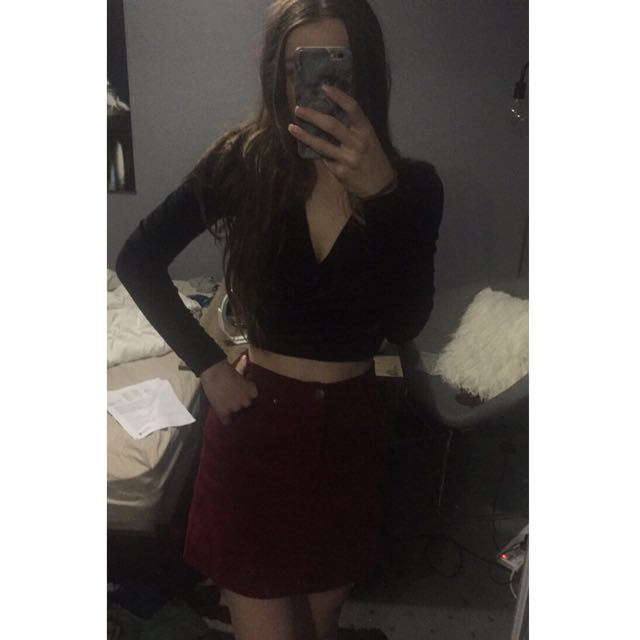 Red Felt Skirt