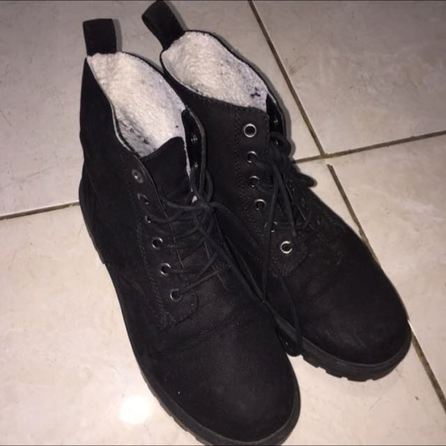 REPRICE h&m Boots Wool Suede