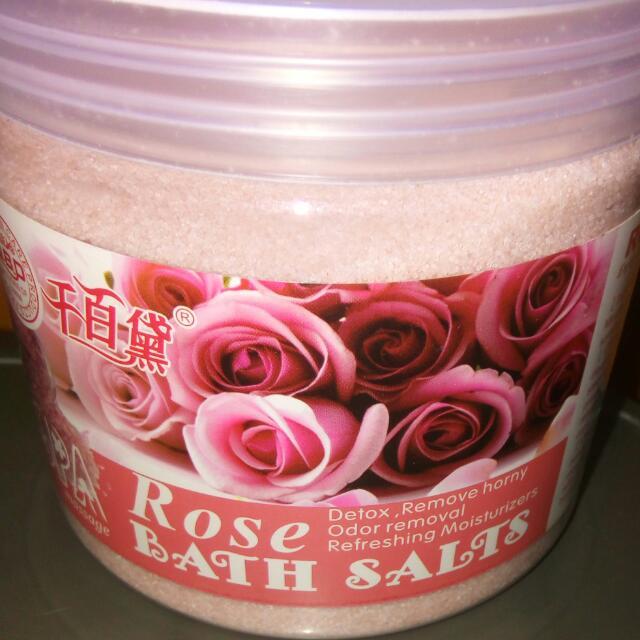 Rose Bath Salt 650mg