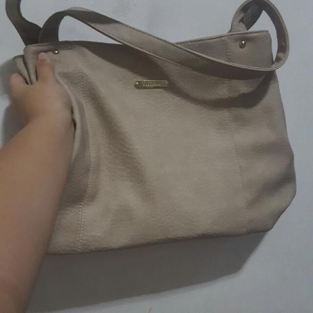secosana beige office shoulder bag