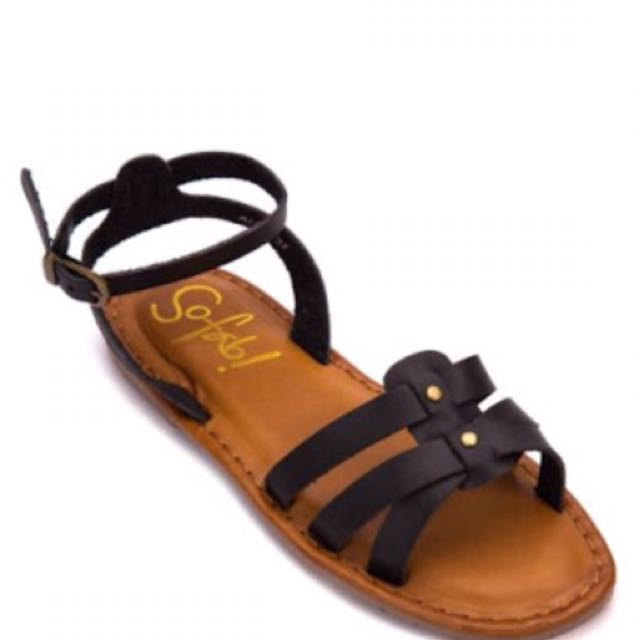 So Fab Alma Black Sandals