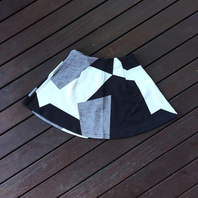 Something Borrowed Colour Block Skater Skirt
