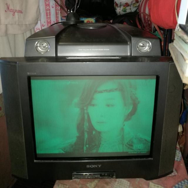 sony wega with speaker on top 21 inch electronics tvs
