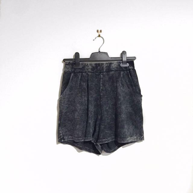 Sparkle And Fade Acid Wash Shorts