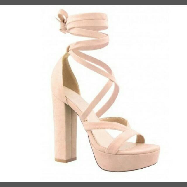 Strappy tie up heels