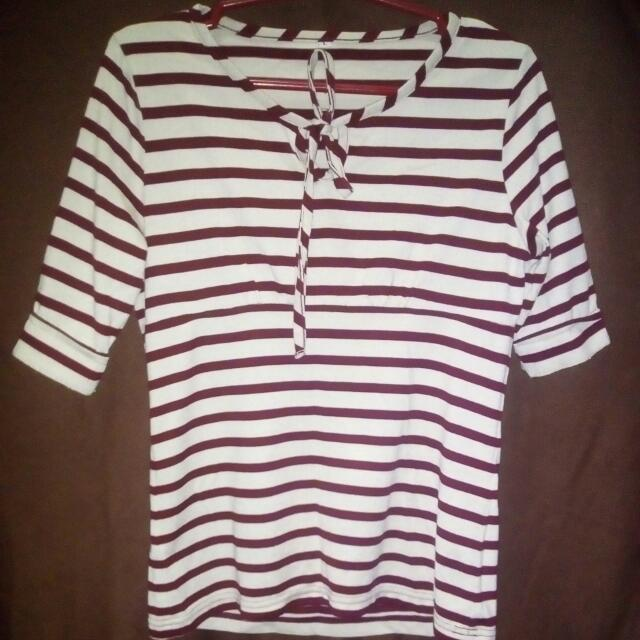 REPRICED!! Striped Blouse