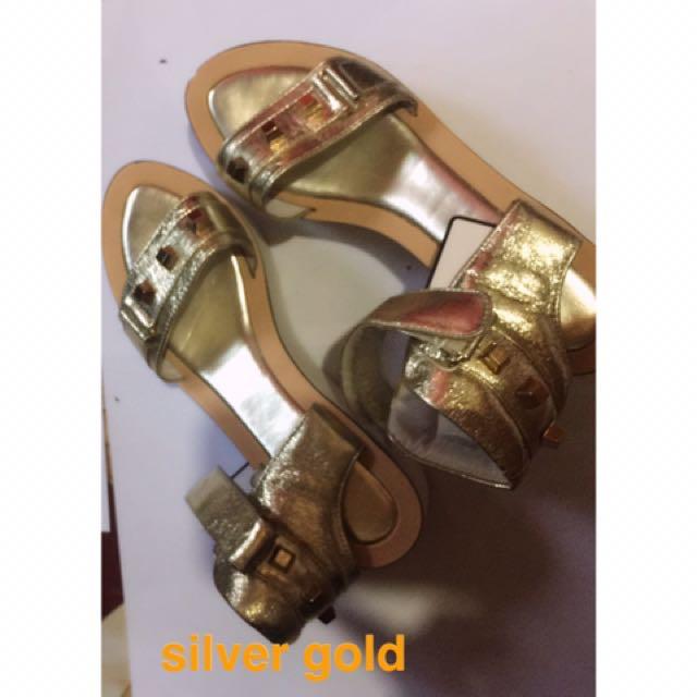 Studded Light Gold Sandals
