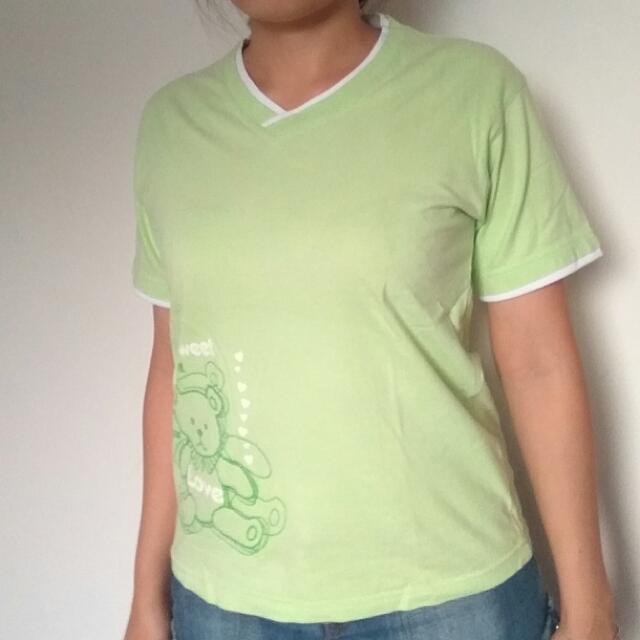Super-T Kaos Love Bear Hijau Green