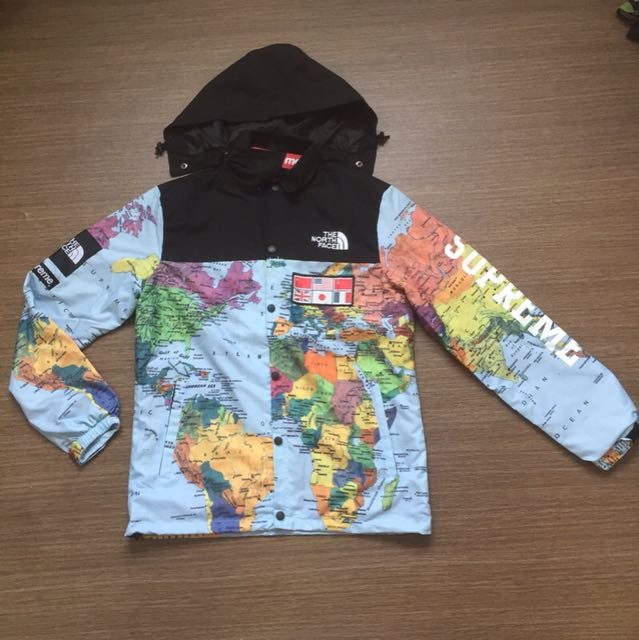Supreme x the north face world map windbreaker freepostage mens photo photo gumiabroncs Choice Image