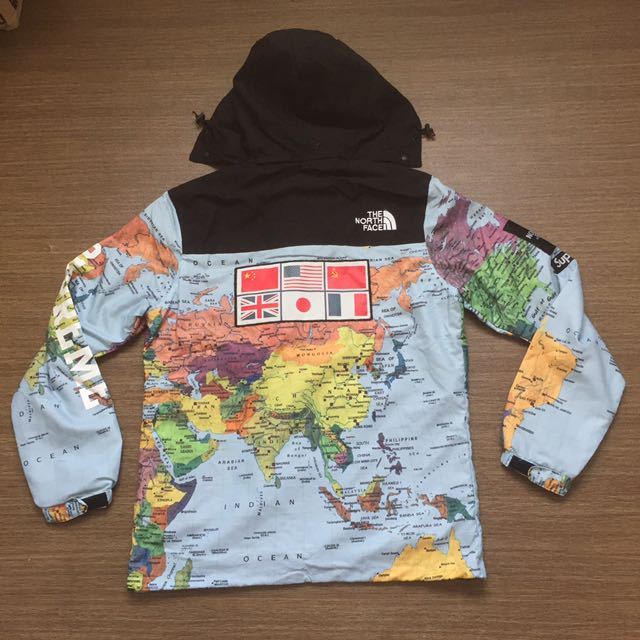 Supreme x the north face world map windbreaker freepostage mens supreme x the north face world map windbreaker freepostage mens fashion clothes on carousell gumiabroncs Gallery