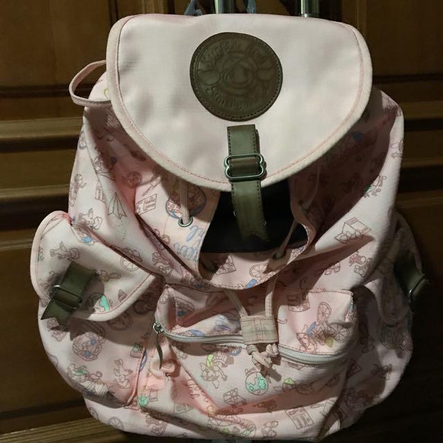 Surfer Girl Pastel (Baby) Pink Backpack (Ransel)