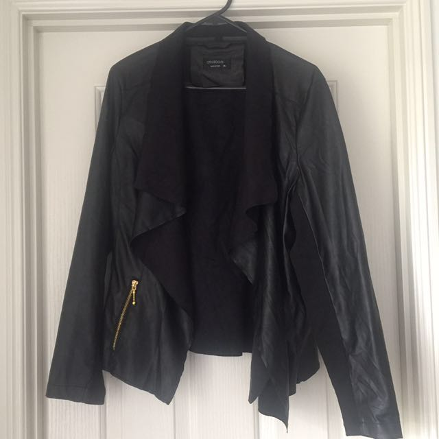 SZ14 Black Leather-Look Jacket